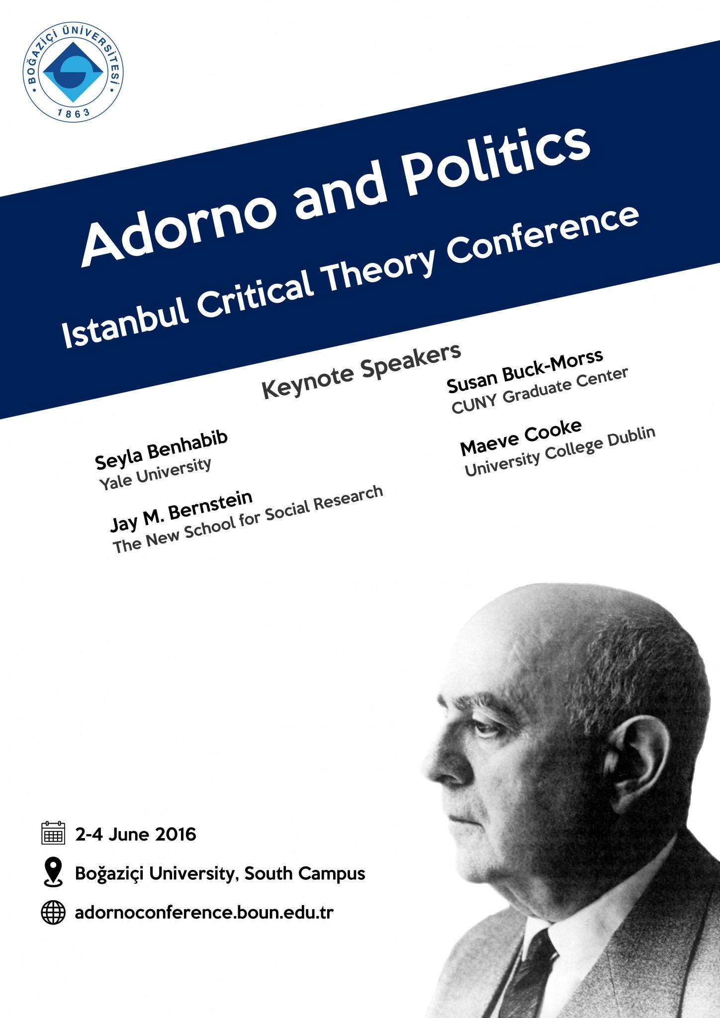 Adorno and Politics - Poster